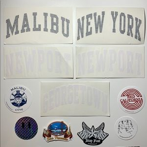 BRANDY MELVILLE STICKERS — 11 pack